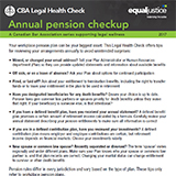 Annual pension checkup