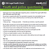 Youth and police questioning