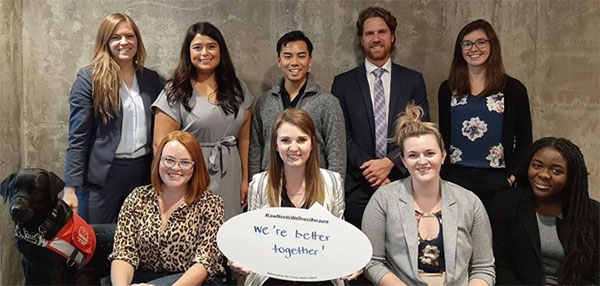 CBA Law Student Section Executive (clockwise from top left): Julia Kingdon, Natalie Potvin, Vincent Li, Braeden Cornick, Katie Short, Avechi Chimara, Acacia Rambow, Charlene Scheffelmair, Emma MacIntosh, Athená